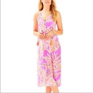 Lilly Pulitzer Sunseekers Lachelle Silk Midi Dress